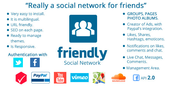 CodeCanyon Friendly Social Network 8888967