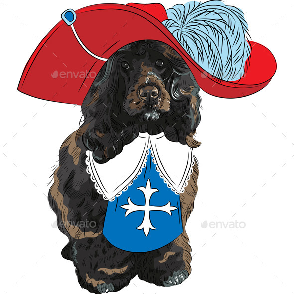 GraphicRiver Portuguese Water Dog Musketeer 8889015