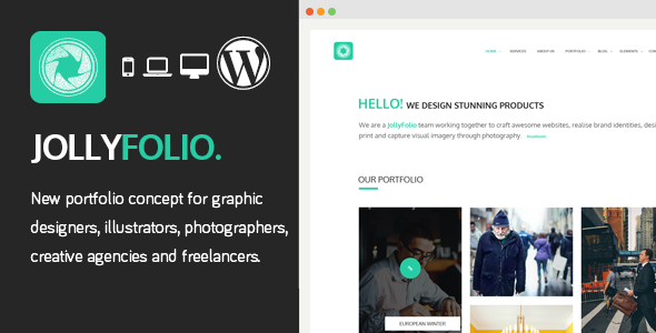 ThemeForest Jollyfolio Creative Responsive WordPress Theme 8889196