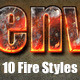 10 Fire Text Effects - GraphicRiver Item for Sale