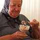 Grandmother Eating Ice Cream - VideoHive Item for Sale