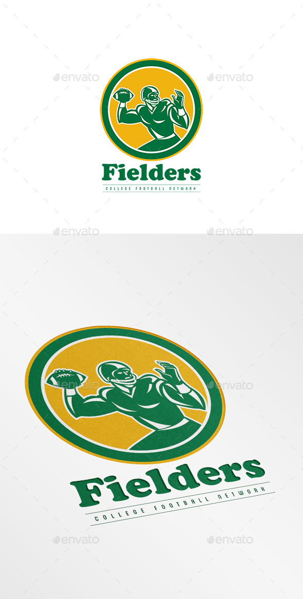 GraphicRiver Fielders College Football Network Logo 8889500