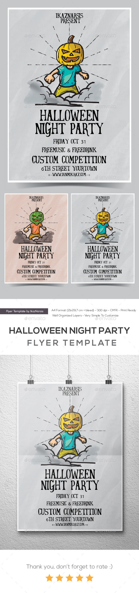 GraphicRiver Halloween Party Night 8889501