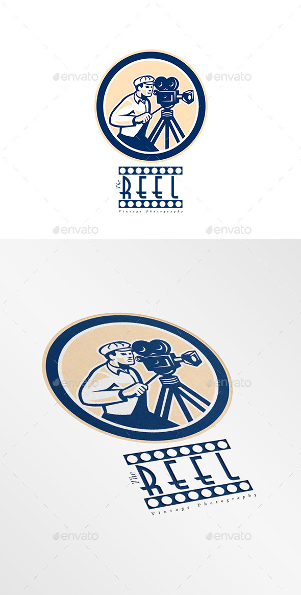 GraphicRiver The Reel Vintage Photography Logo 8889514