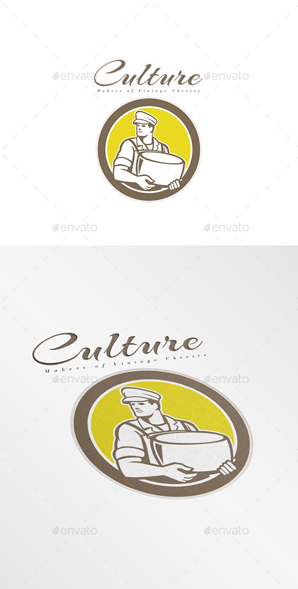 GraphicRiver Culture Makers of Vintage Cheese Logo 8889520