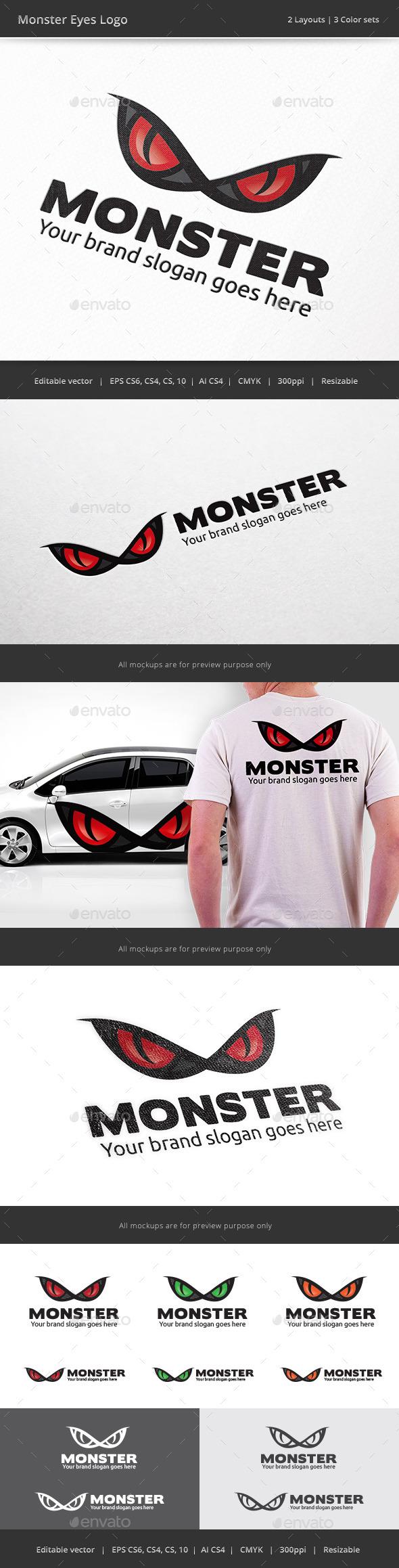 GraphicRiver Monster Eyes Logo 8889522