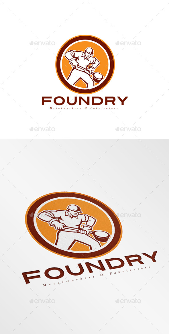 GraphicRiver Foundry Metal Works Logo 8889535