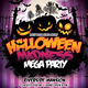 Halloween Madness Mega Party Flyer Template - GraphicRiver Item for Sale