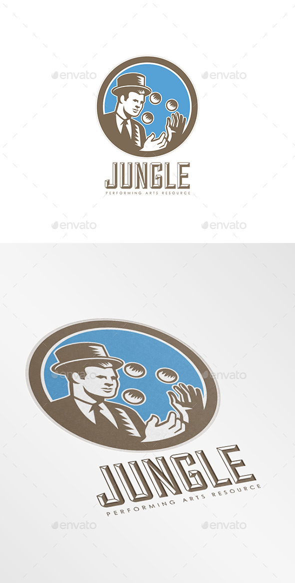 GraphicRiver Jungle Performing Arts Logo 8889643