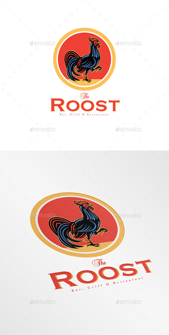 GraphicRiver The Roost Bar Logo 8889669