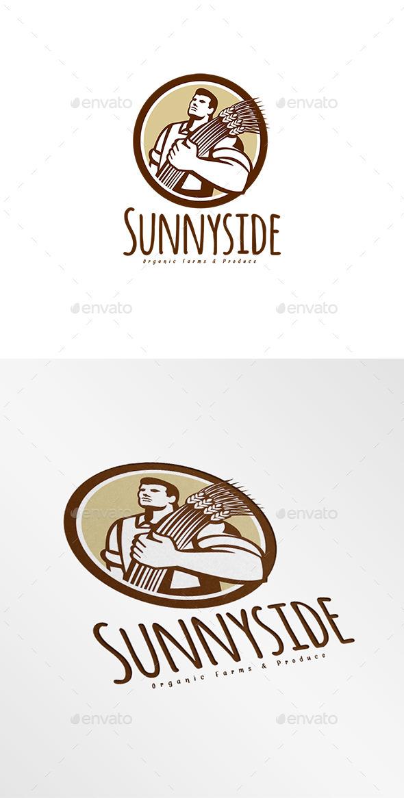 GraphicRiver Sunnyside Organic Farms Logo 8889672