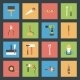 Building Flat Icons Set - GraphicRiver Item for Sale