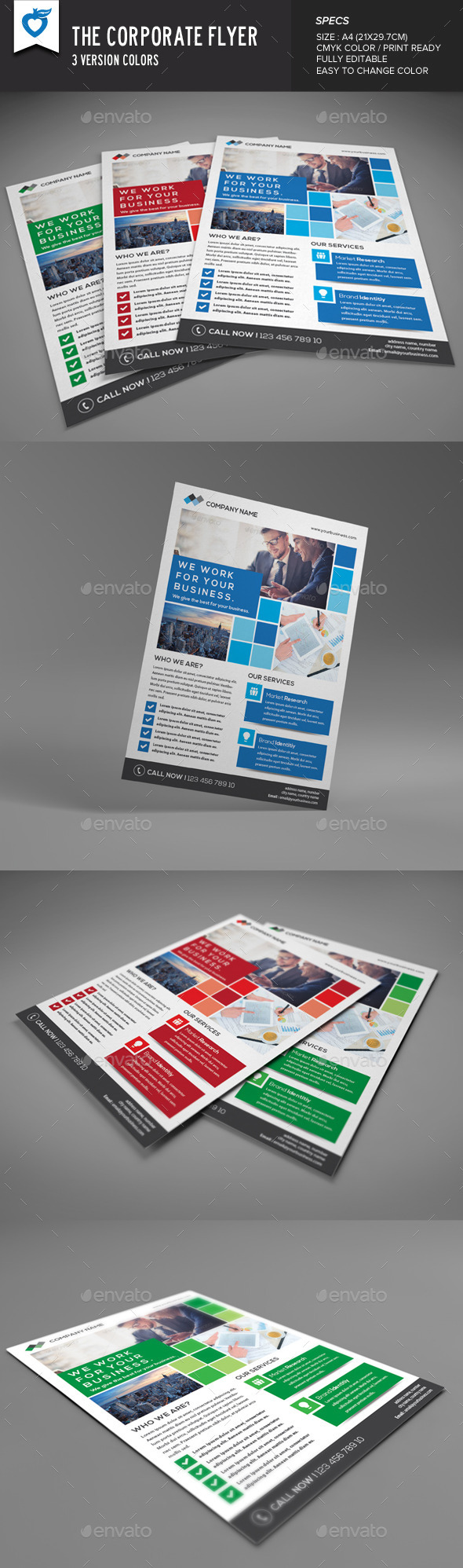 GraphicRiver The Corporate Flyer 8890948