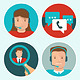 Vector Client Service Flat Icons - GraphicRiver Item for Sale