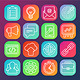 SEO Symbols in Outline Style - GraphicRiver Item for Sale