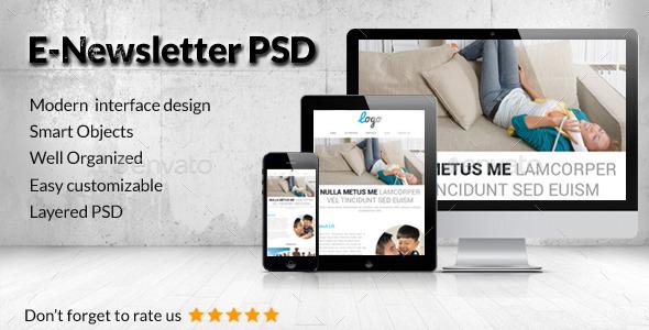 GraphicRiver Multipurpose E-Newsletter PSD Template 8891223