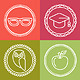 Vector Education Icons and Logos in Outline Style - GraphicRiver Item for Sale