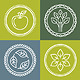Vector Organic Emblems - GraphicRiver Item for Sale