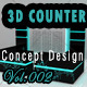 3D Counter Concept Design 134 Vol.2 - 3DOcean Item for Sale