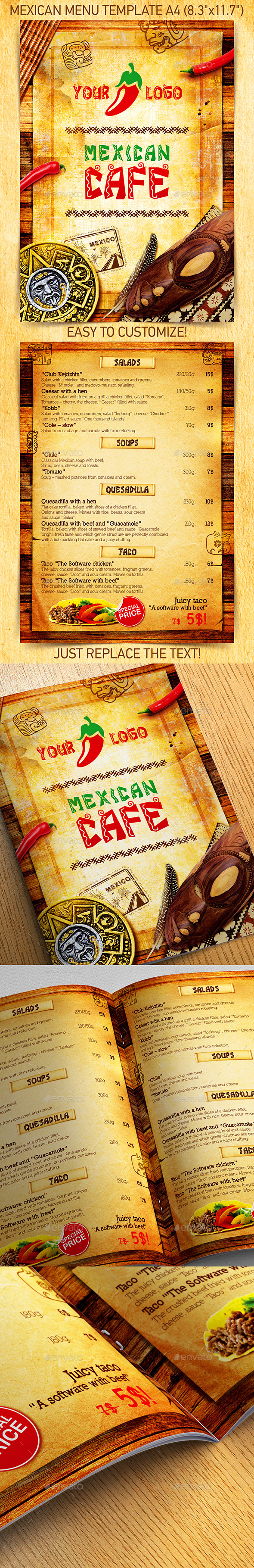 Mexican Menu Template vol.1 - Restaurant Flyers