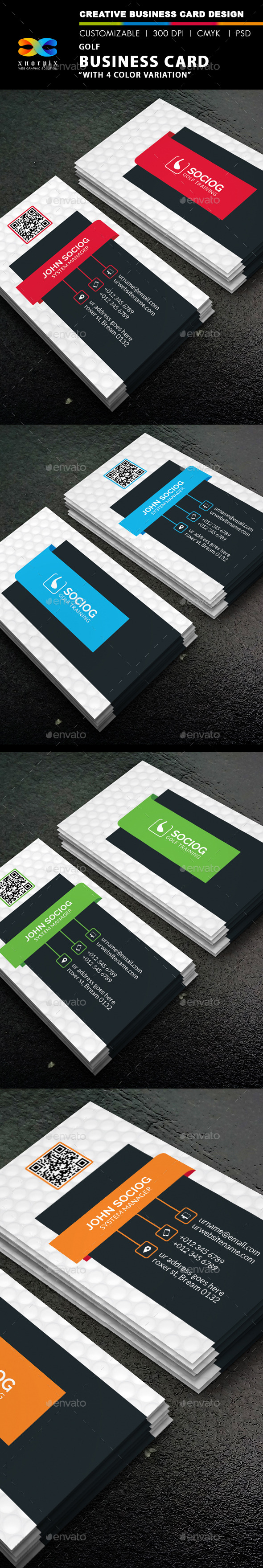 GraphicRiver Golf Business Card 8891337