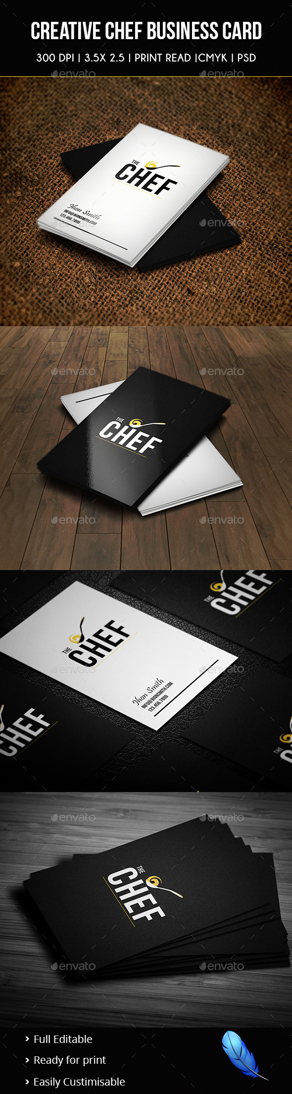 GraphicRiver Creative Chef Business Card 02 8839381