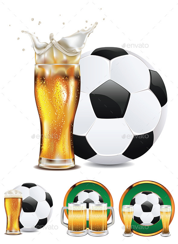GraphicRiver Beer and Soccer Ball 8891542