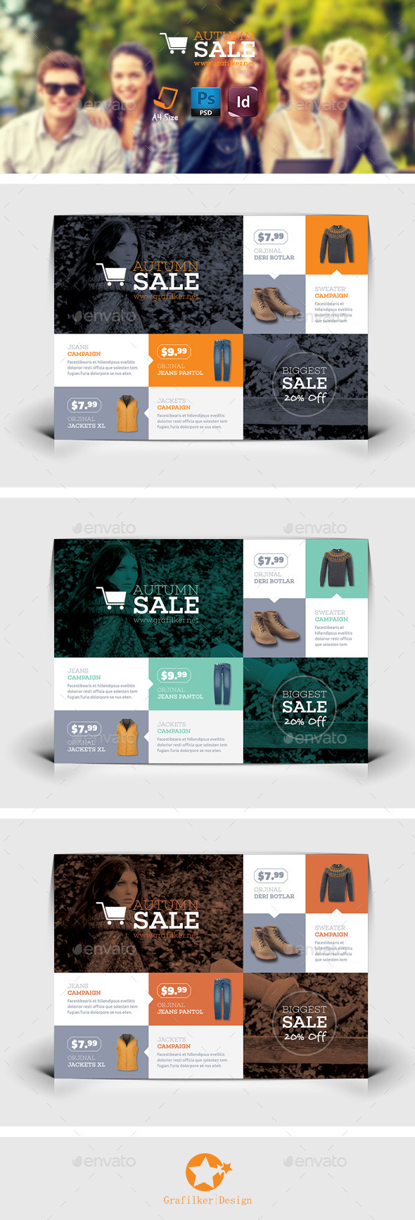 GraphicRiver Shopping Flyer Templates 8891681