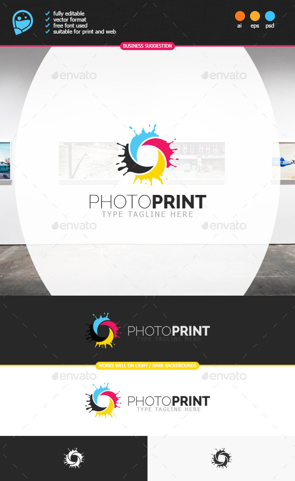 GraphicRiver Photo Print Logo Template 8891758
