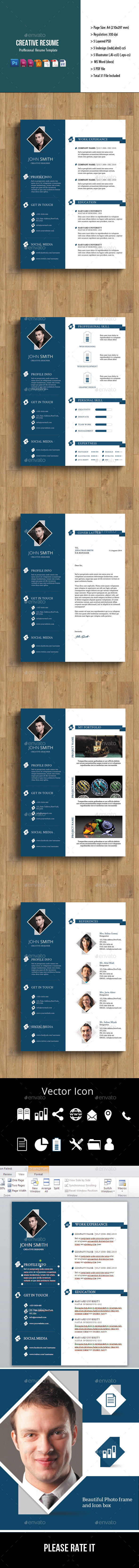 GraphicRiver 5 Page Creative Resume 8891832
