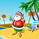Christmas Santa On The Beach with Smartphone - GraphicRiver Item for Sale