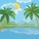 Tropical Sea Landscape with Palm Trees - GraphicRiver Item for Sale