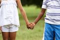 Children love black boy white girl holding hands - PhotoDune Item for Sale