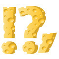 cheese question mark - PhotoDune Item for Sale