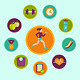 Vector Fitness Infographics Design Elements - GraphicRiver Item for Sale