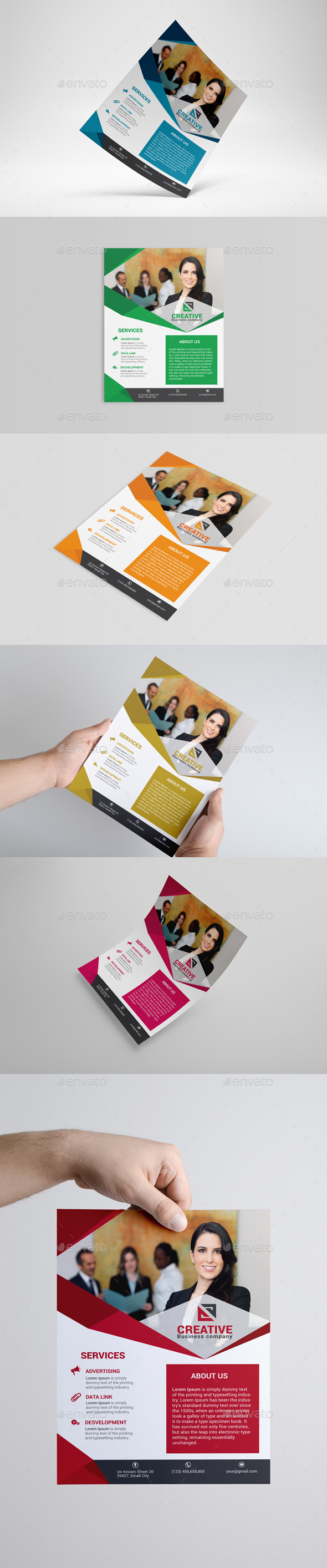 GraphicRiver Corporate Business Flyer 8892156