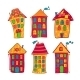 Set Colorful Houses in Cartoon Style - GraphicRiver Item for Sale