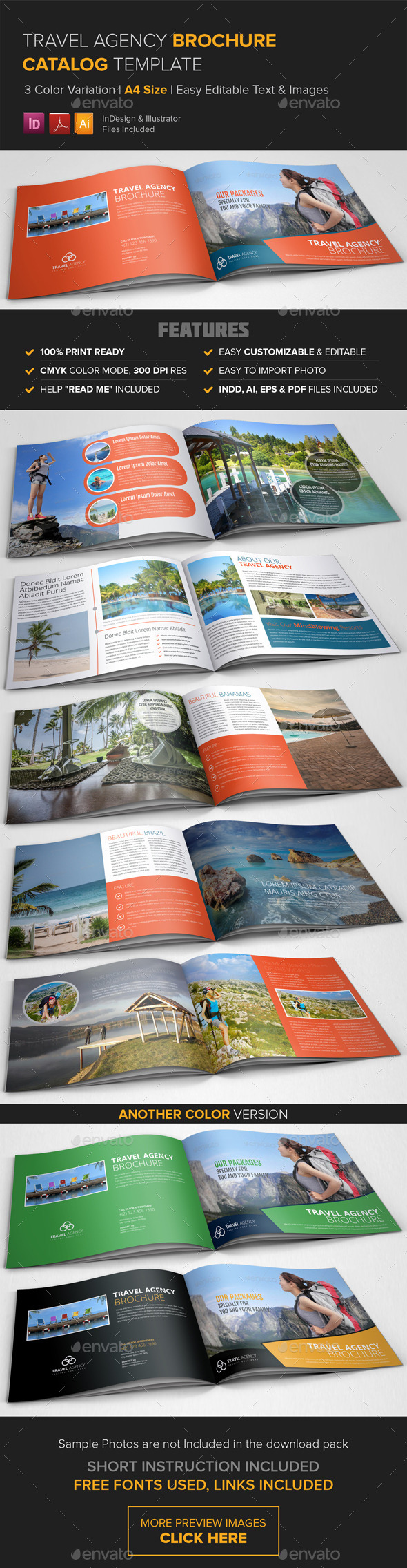 GraphicRiver Travel Agency Brochure Catalog Template 8892257