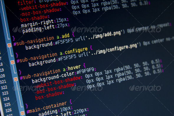 CSS3 Code Sample - Stock Photo - Images