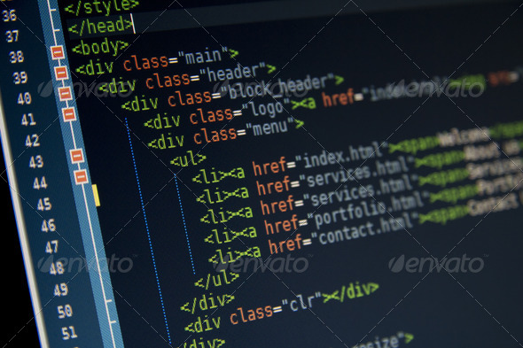 HTML Code - Stock Photo - Images