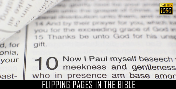 Flipping Pages In The Bible 2