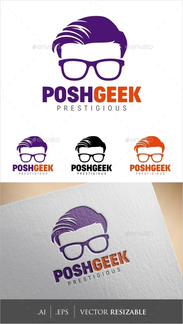GraphicRiver Geek Logo Template 8892325