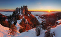 Winter sunset with forest in Slovakia - PhotoDune Item for Sale