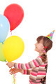 happy little girl with balloons birthday party - PhotoDune Item for Sale