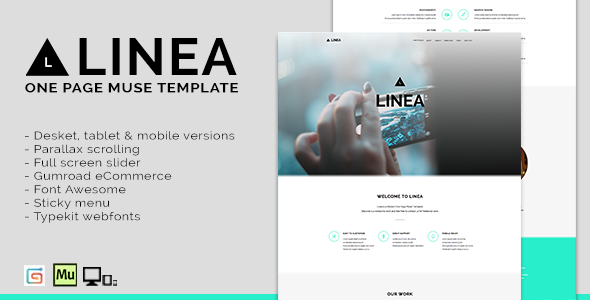 Linea - One Page Muse Template - Corporate Muse Templates
