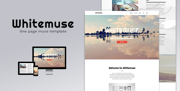 Whitemuse - One Page Muse Template - Creative Muse Templates
