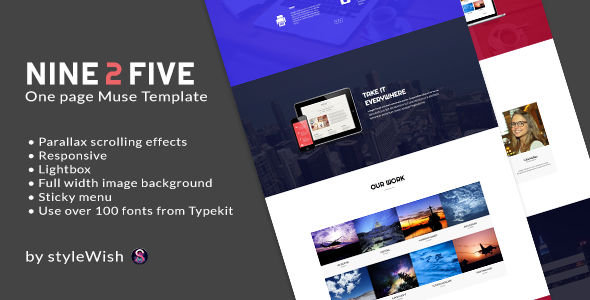 Nine 2 Five - One Page Muse Template - Creative Muse Templates