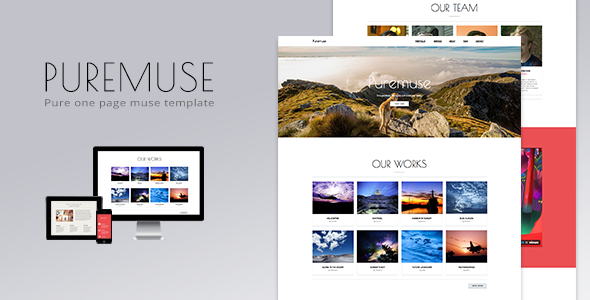 Puremuse - One Page Muse Template - Creative Muse Templates
