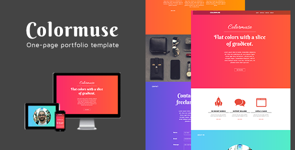 Colormuse - One Page Portfolio Muse Template - Creative Muse Templates