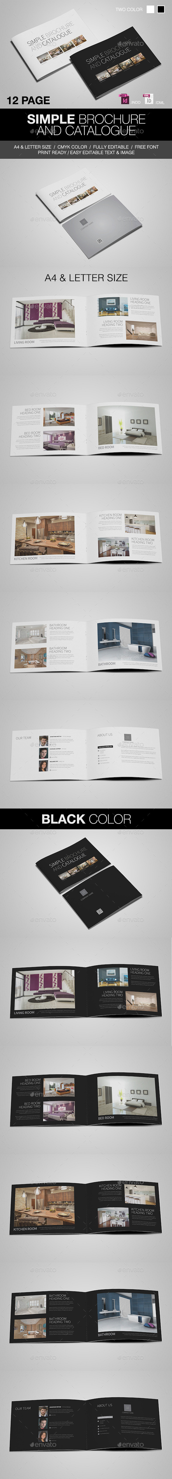 GraphicRiver Simple Catalogue Brochure 8893212